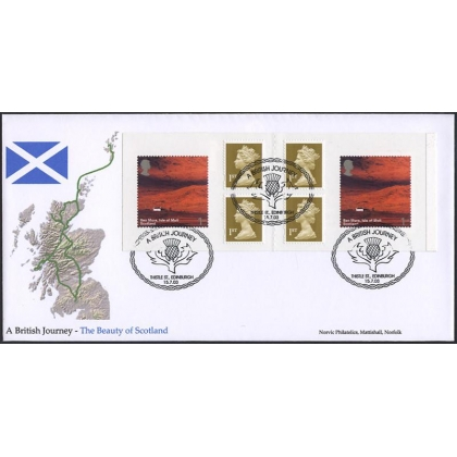 2391.N British Journey Scotland Norvic booklet FDC 2003 Thistle postmark