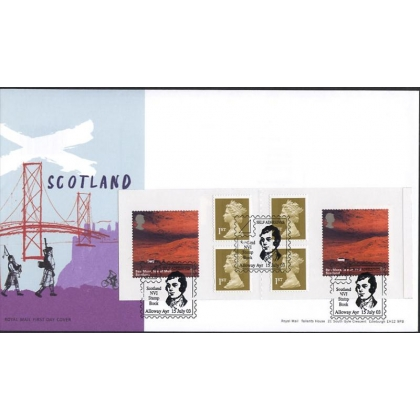 2391.1 British Journey Scotland Booklet FDC 2003 Burns postmark