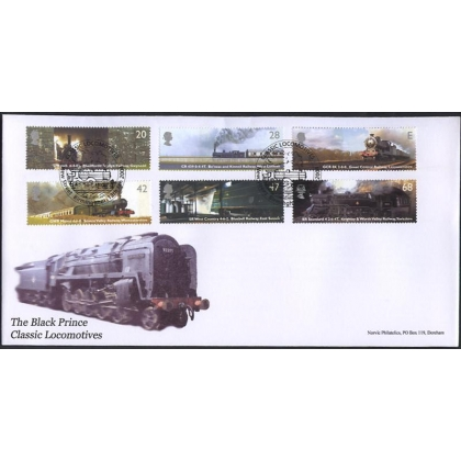 2417 Classic steam locomotives on Norvic fdc