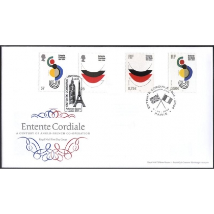 2446 Entente Cordiale Joint Issue Royal Mail FDC