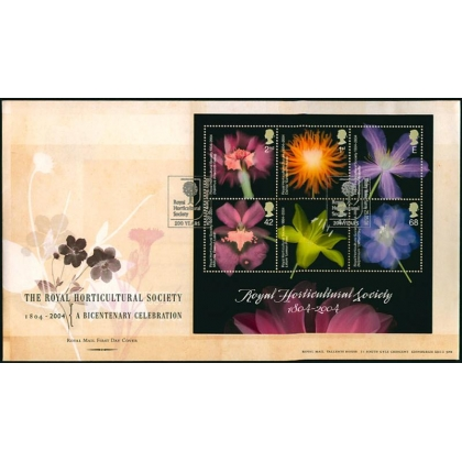 2462MS Bicent of the Royal Horticultural Society MS FDC 2004