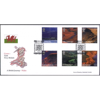2466 British Journey: Wales Norvic FDC 2004