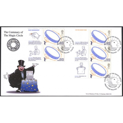 2525s Magic Circle Smilers strip Norvic FDC 2005
