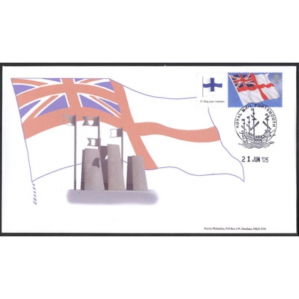 2546s White Ensign Smilers Sheet Norvic Flag FDC