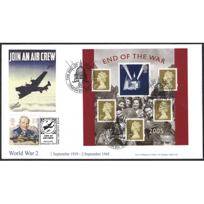 2547x 60th Anniv of WW2 Norvic Air Crew FDC