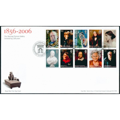 2640 National Portrait Gallery Royal Mail FDC