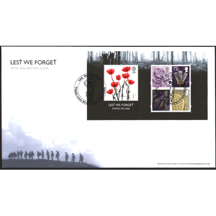 2685 Lest We Forget MS Royal Mail FDC 2006