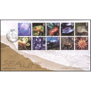 2699 Sea Life set Royal Mail first day..