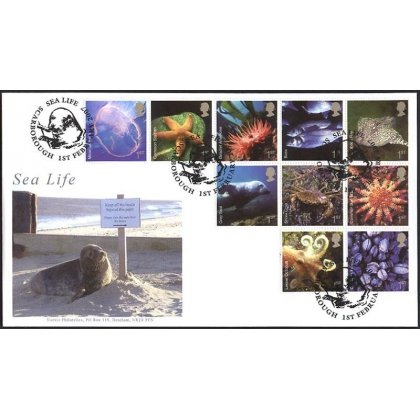 2699 Sea Life set Norvic first day cover 2007