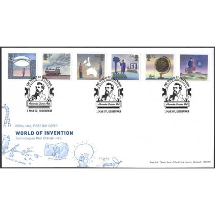 2715 World of Invention set Royal Mail fdc 2007