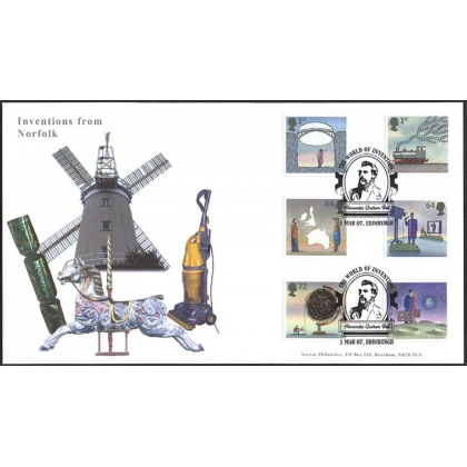 2715 World of Invention set on Norvic fdc 2007