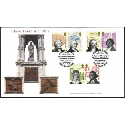 2728 Abolition of Slavery Norvic fdc 2007