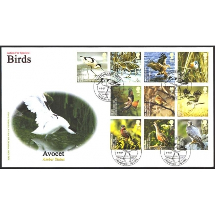 2764 Endangered Birds Norvic first day cover 2007