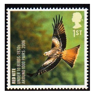 2766 Red Kite - Endangered Bird stamp ..
