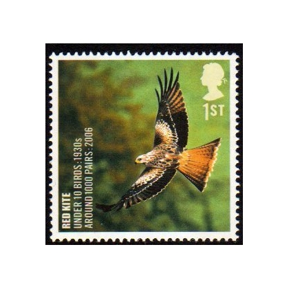 2766 Red Kite - Endangered Bird stamp mint