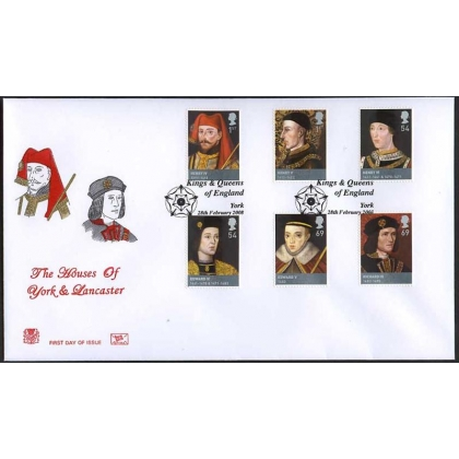 2812 Houses of Lancaster & York Stuart first day cover 2008