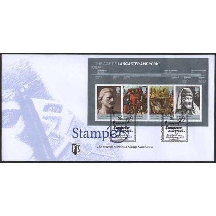 2818 Houses of Lancaster & York MS Stampex first day cover 2008