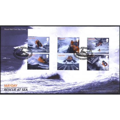 2825 Rescue at Sea set on Royal Mail first day cover 2008