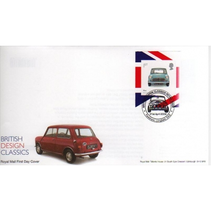 2913 Mini-Car Design Classics booklet first day cover 2009