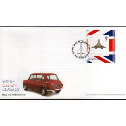 2914b Concorde booklet stamp Royal Mail first day cover 2009