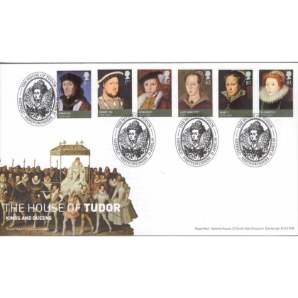 2924 House of Tudor Royal Mail first day cover 2009