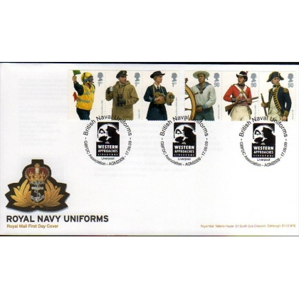 2964 Royal Navy Uniforms set on Royal Mail FDC 2009
