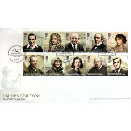 2971 Eminent Britons Royal Mail first day cover 2009