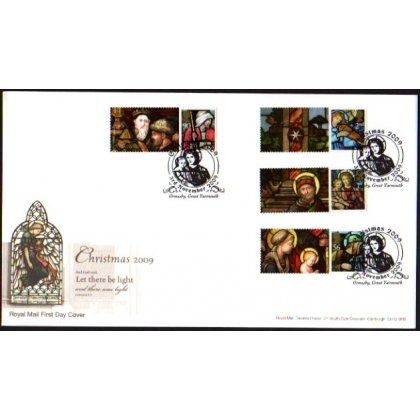 2991s Christmas Smilers set on Royal Mail first day cover 2009