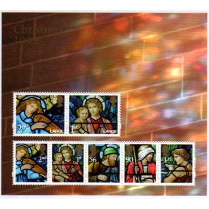 2998MS Christmas 2009 Stained Glass Windows miniature sheet