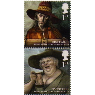 3156 Discworld stamps pair mint