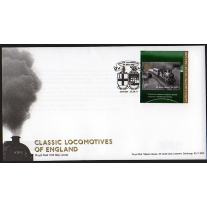 3215 English Locomotive booklet stamp first day cover 2011