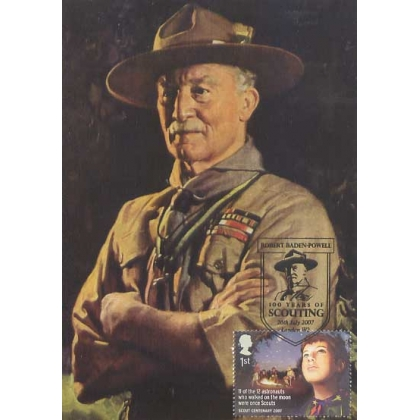 2758b Boy Scout Centenary BP Maximum Card