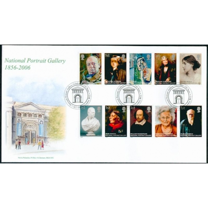 2640 National Portrait Gallery Norvic FDC