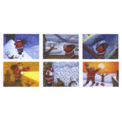 2501x Christmas Cards: Raymond Briggs Father Christmas designs