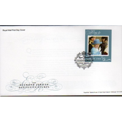 3327 Diamond Jubilee booklet stamp first day cover 2012