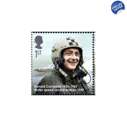 2977 Donald Campbell Eminent Britons stamp