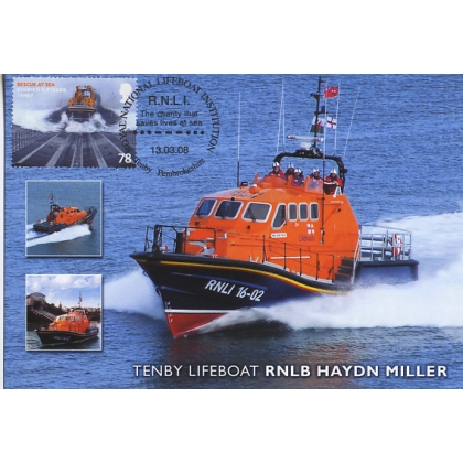 2830 Tenby Lifeboat Maximum Card 2008