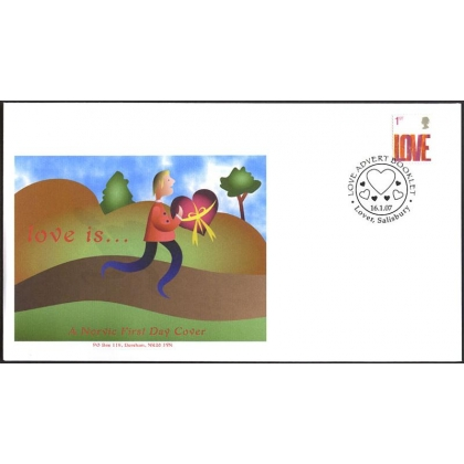 2693 Love Booklet stamp Norvic FDC 2007
