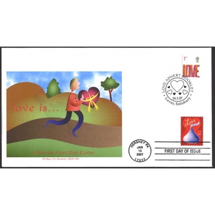 2693 Love stamps GB-US Norvic FDC 2007