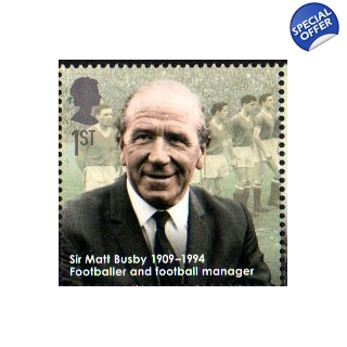 2973 Sir Matt Busby stamp Eminent Brit..