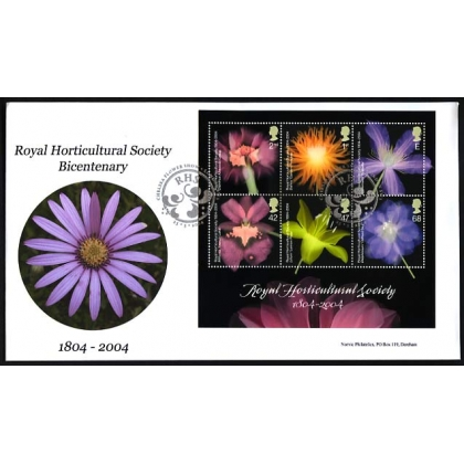 2462MS Bicent of the Royal Horticultural Society MS Norvic FDC 2004
