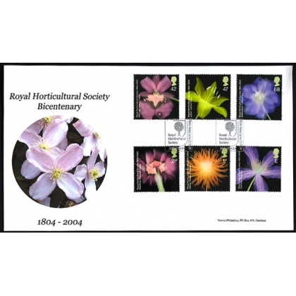 2456 Bicentenary of the Royal Horticultural Society Norvic FDC 2004