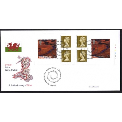 2472 British Journey: Wales Booklet Norvic FDC 2004