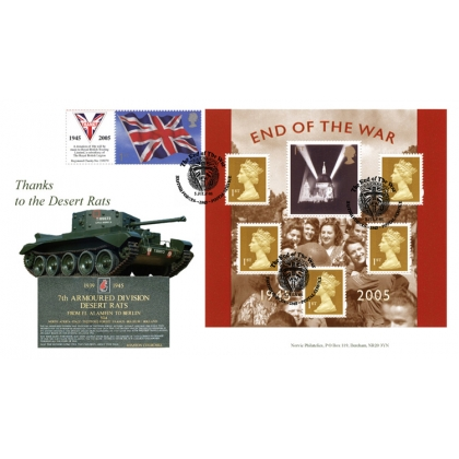 2547 60th Anniv of WW2 Norvic Desert Rats FDC