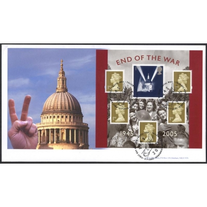 2547 60th Anniv of WW2 Norvic St Paul's FDC