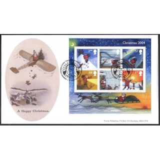 2501 Father Christmas MS 2004 Norvic FDC