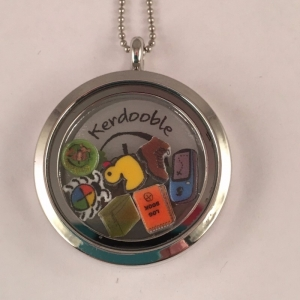 Geocaching Themed Memory Locket Disk & Charms