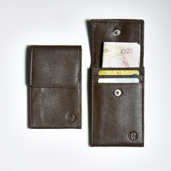 Mini Wallet in Dark Brown