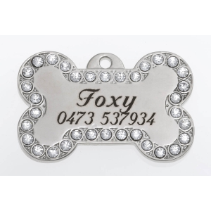Foxy/Ziggy Swarovski Dog Tag LARGE