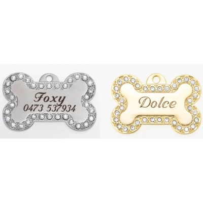 Foxy/Ziggy Swarovski Dog Tag LARGE title=
